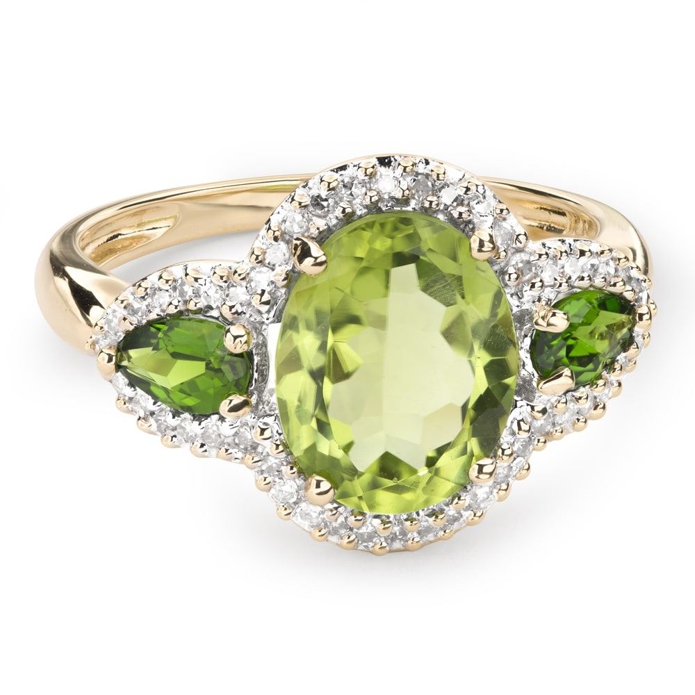 """Gold ring with gemstones """"Colors 48"""""""