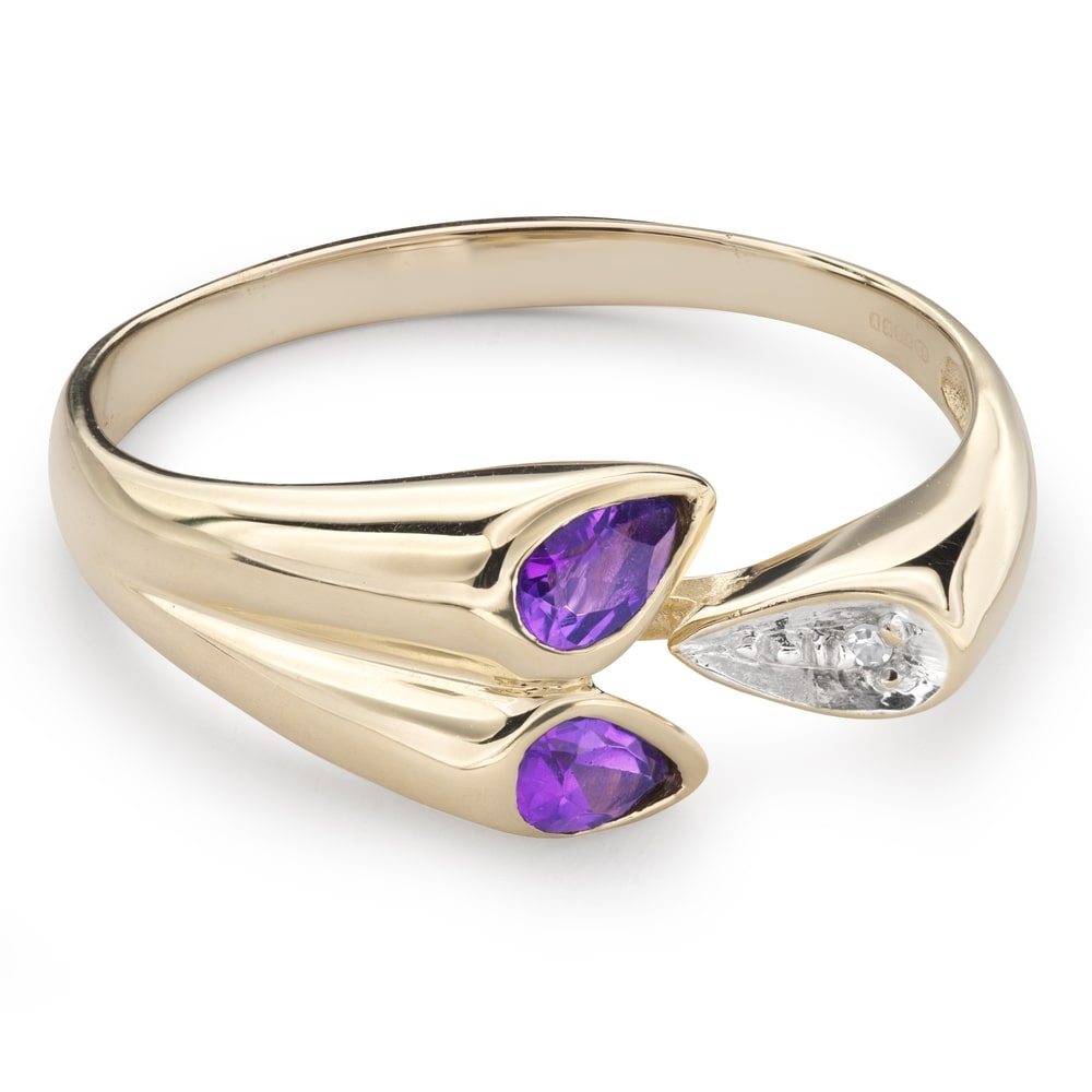 """Engagement ring with gemstones """"Colors 52"""""""