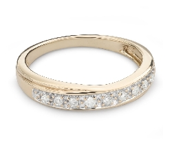 "Gold ring with brilliants ""Diamond strip 52"""