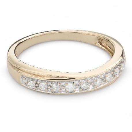 "Gold ring with brilliants ""Diamond strip 52"""