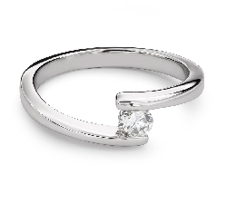 "Engagement ring with brilliant ""Between the rocks 26"""