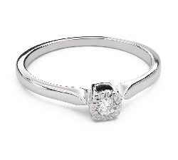 "Engagement ring with diamond ""Strength 103"""