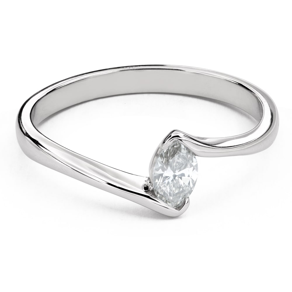 """Engagement ring with brilliant """"In love 41"""""""