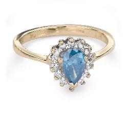 """Teemantidega kuldsõrmus """"Värvid 61"""""""