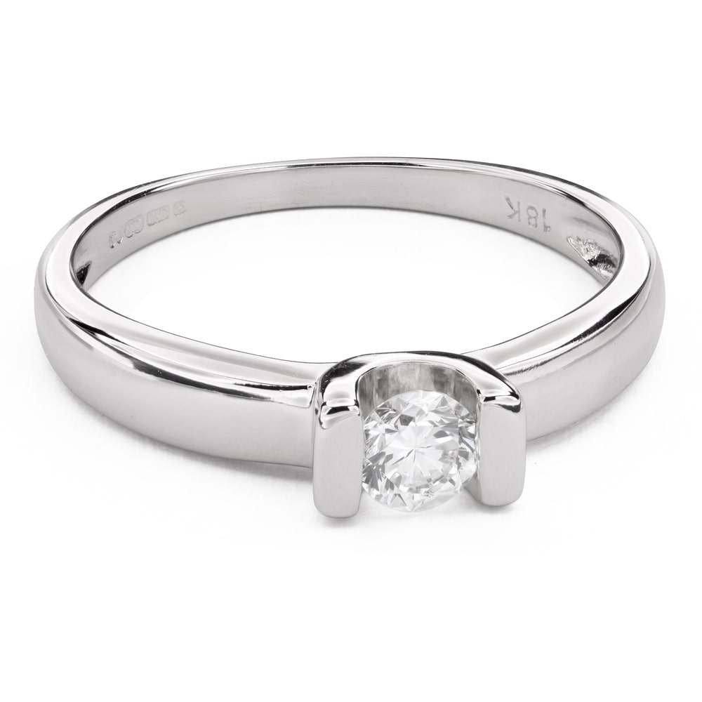 """Engagement ring with brilliant """"In love 42"""""""