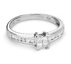 """Teemantidega kihlasõrmus """"Printsessid 49"""""""
