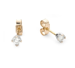 "Gold earrings with brilliants ""Classic 49"""