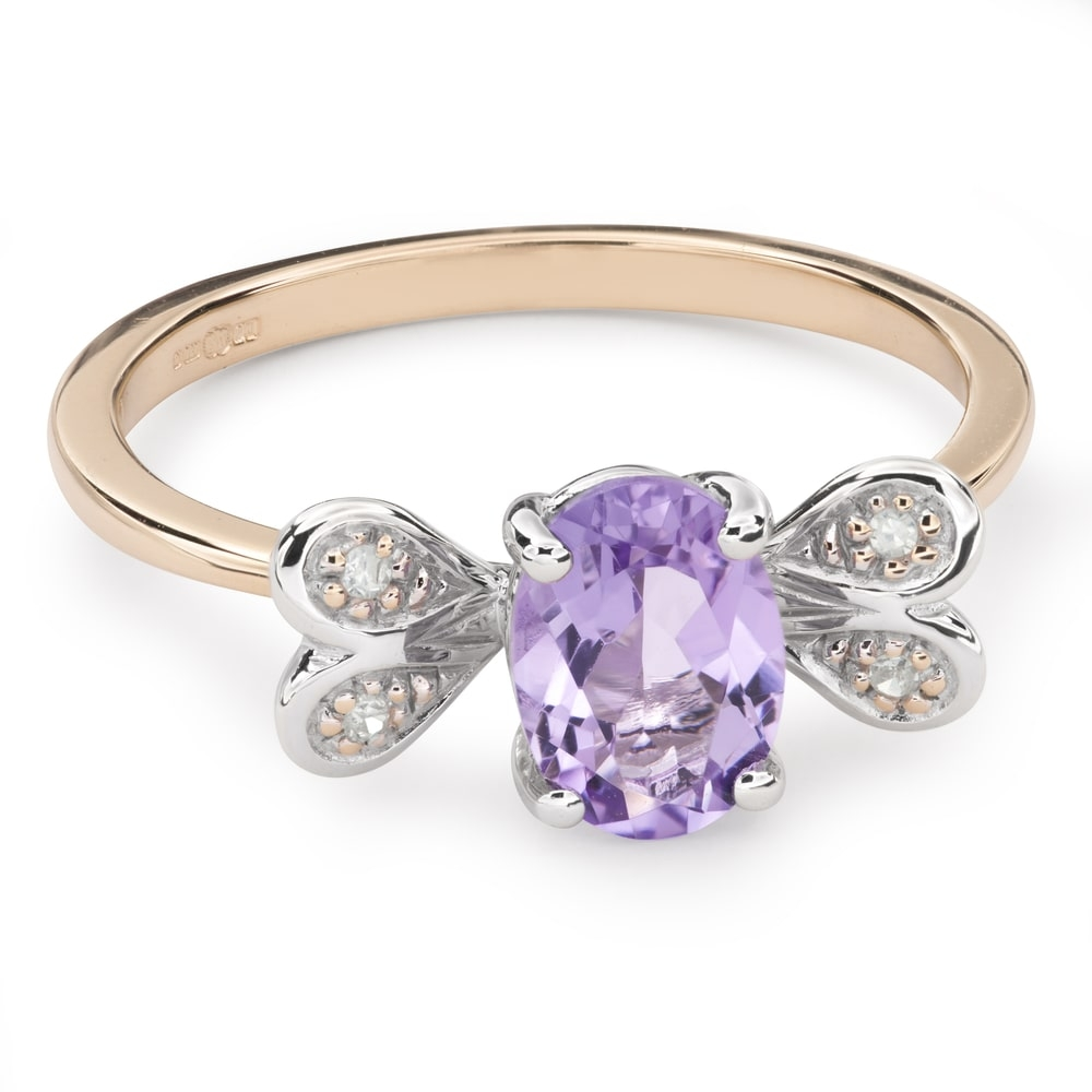 """Gold ring with gemstones """"Colors 64"""""""