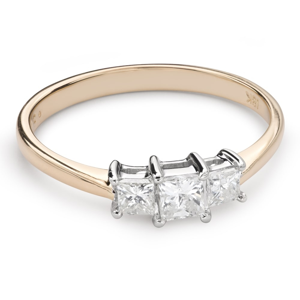 """Engagement ring with diamonds """"Trilogy 34"""""""