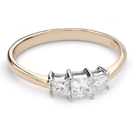 """Teemantidega kihlasõrmus """"Triloogia 34"""""""