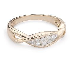 """Teemantidega kuldsõrmus """"Elu 35"""""""