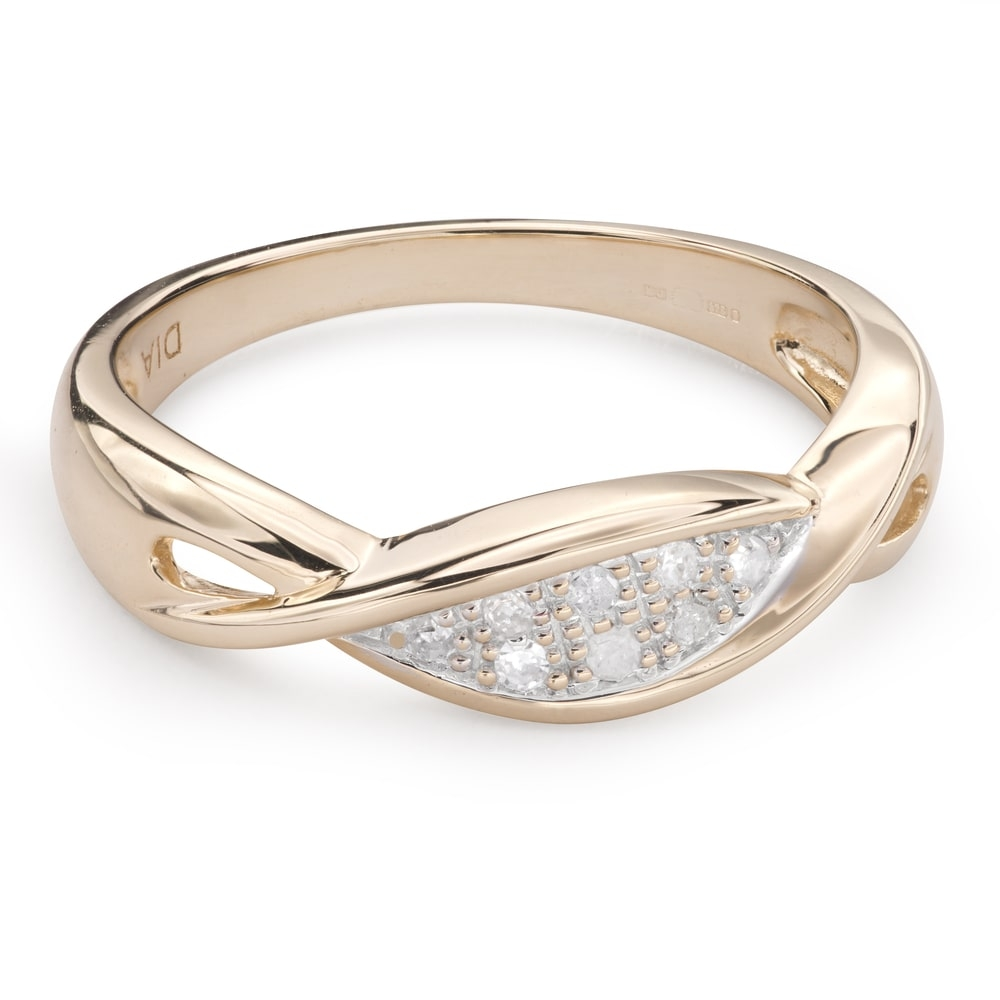 """Gold ring with diamonds """"Life 35"""""""