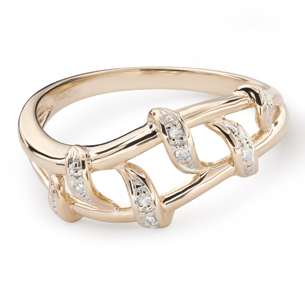 """Gold ring with diamonds """"Life 39"""""""