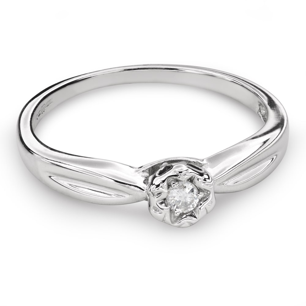 """Engagement ring with brilliant """"Lover 121"""""""