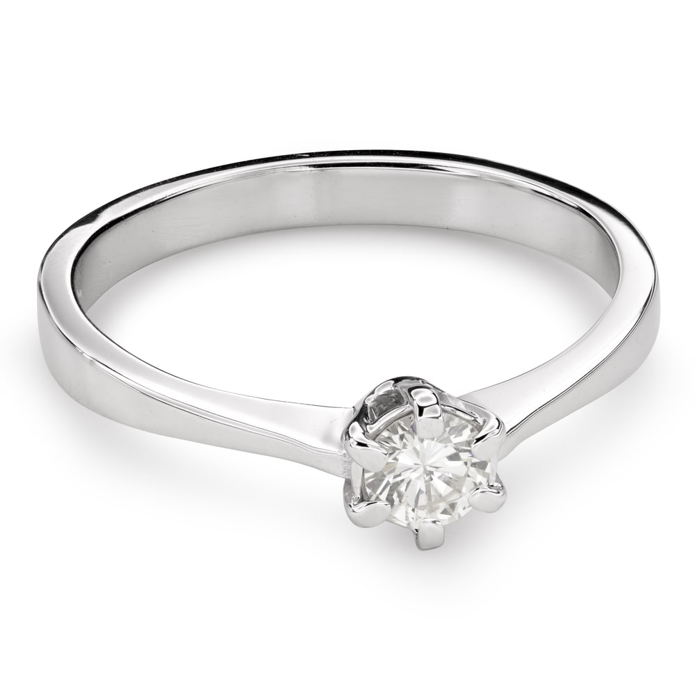 """Engagement ring with brilliant """"The queen 35"""""""
