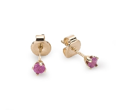 "Gold earrings with gemstones ""Colors 70"""