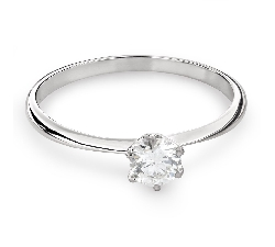 """Engagement ring with brilliant """"The queen 36"""""""