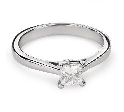 "Engagement ring with diamond ""Princess 78"""
