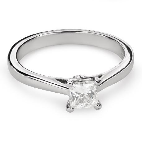 "Engagement ring with diamond ""Princess 78"""