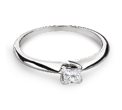 "Engagement ring with diamond ""Princess 79"""