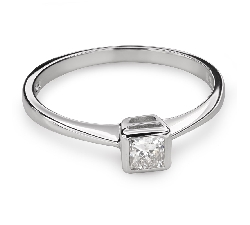 "Engagement ring with diamond ""Princess 81"""