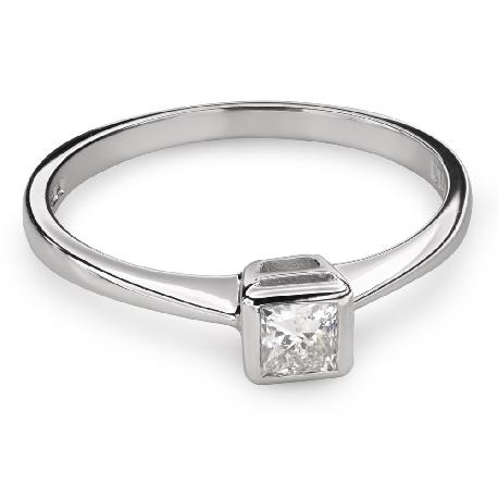 """Teemantiga kihlasõrmus """"Printsess 81"""""""