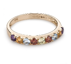 "Gold ring with gemstones ""Colors 78"""