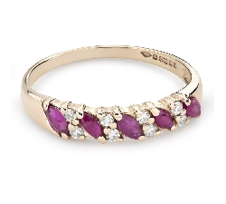 "Gold ring with gemstones ""Colors 79"""