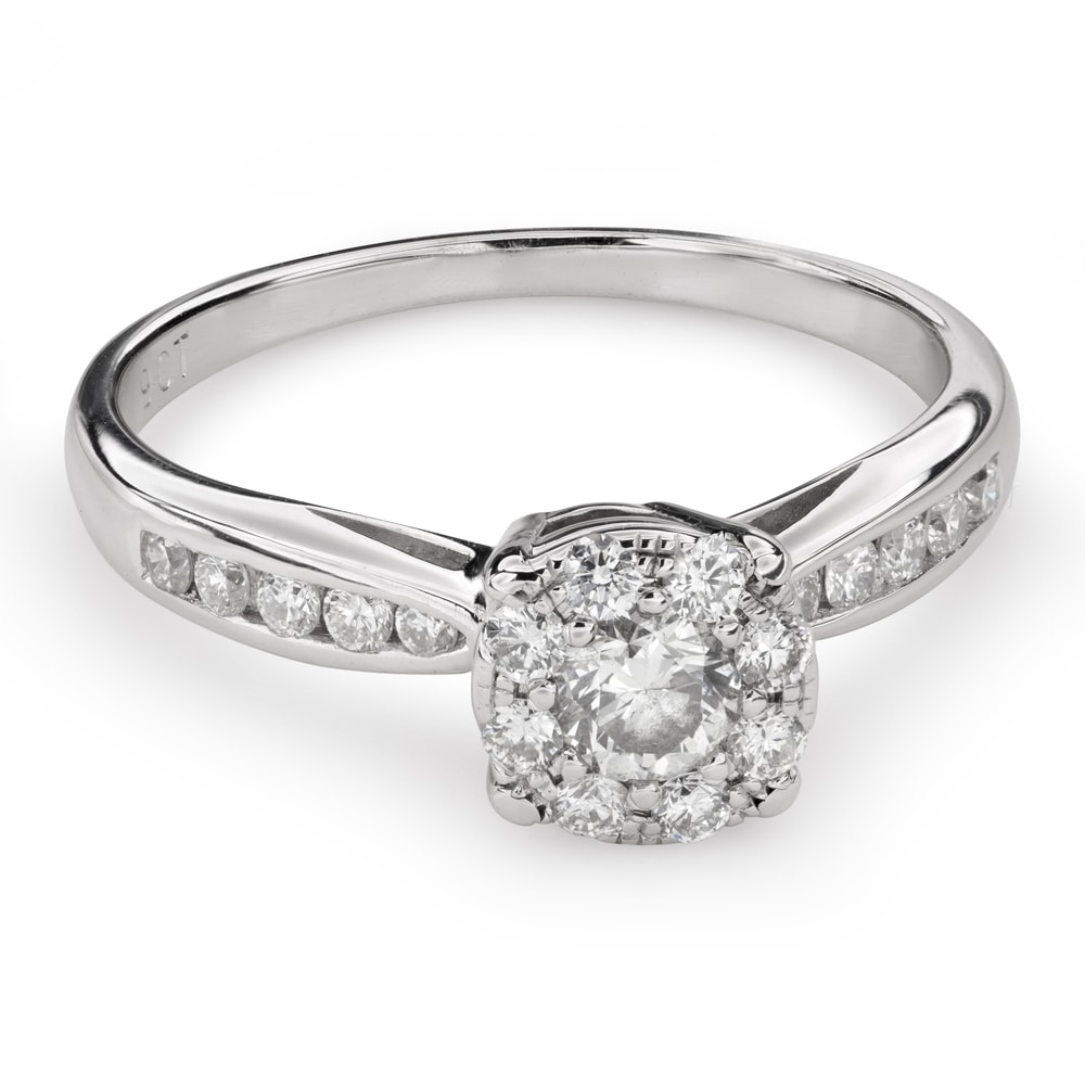 """Engagment ring with brilliants """"Bouquet of diamonds 52"""""""