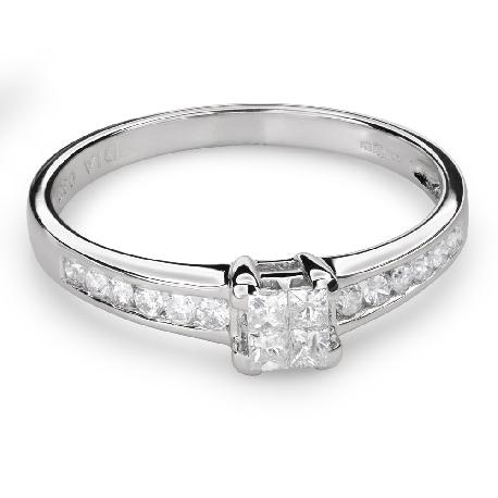 """Teemantidega kihlasõrmus """"Printsessid 51"""""""