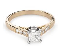 """Teemantidega kihlasõrmus """"Printsess 81"""""""