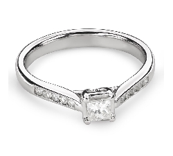 "Engagement ring with diamonds ""Princess 82"""