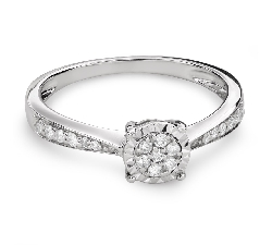 "Engagment ring with brilliants ""Lover 126"""