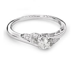 """Teemantidega kihlasõrmus """"Keeristuul 36"""""""