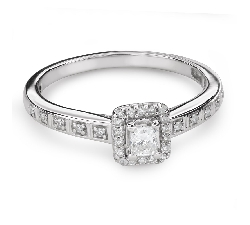 "Engagement ring with diamonds ""Unforgettable 18"""