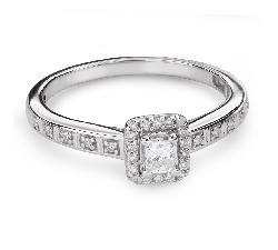 """Teemantidega kihlasõrmus """"Unustamatu 18"""""""