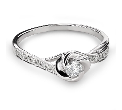"Engagment ring with brilliants ""Diamond flower 43"""