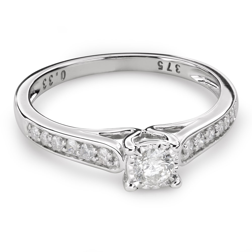 """Engagment ring with brilliants """"Grace 123"""""""
