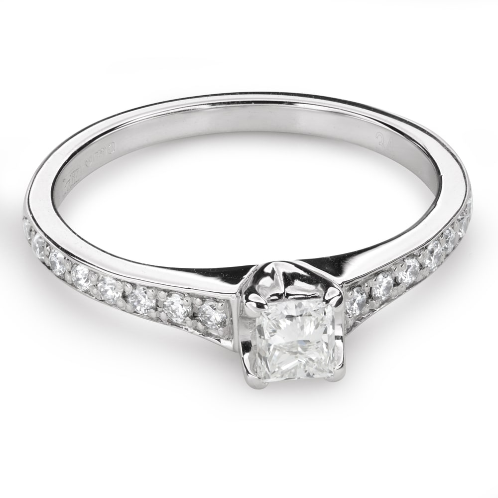 "Engagement ring with diamonds ""Grace 124"""