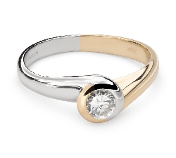 "Engagement ring with brilliant ""Between the rocks 31"""
