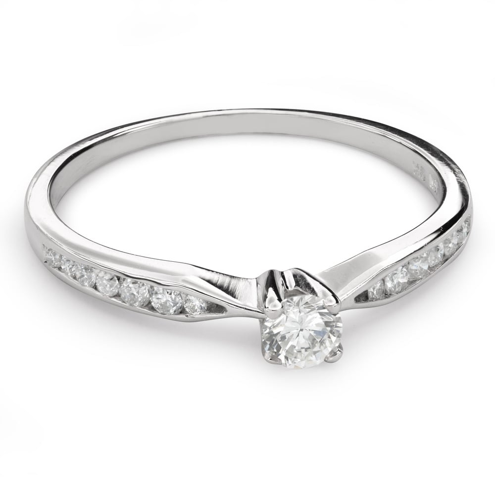 """Engagment ring with brilliants """"Grace 125"""""""