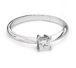 "Engagement ring with diamond ""Princess 83"""