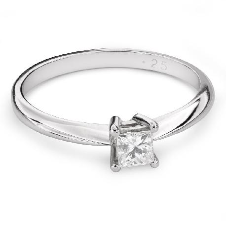 "Engagement ring with diamond ""Princess 83"""