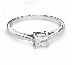 "Engagement ring with diamond ""Princess 84"""