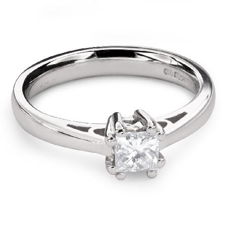"""Teemantiga kihlasõrmus """"Printsess 85"""""""