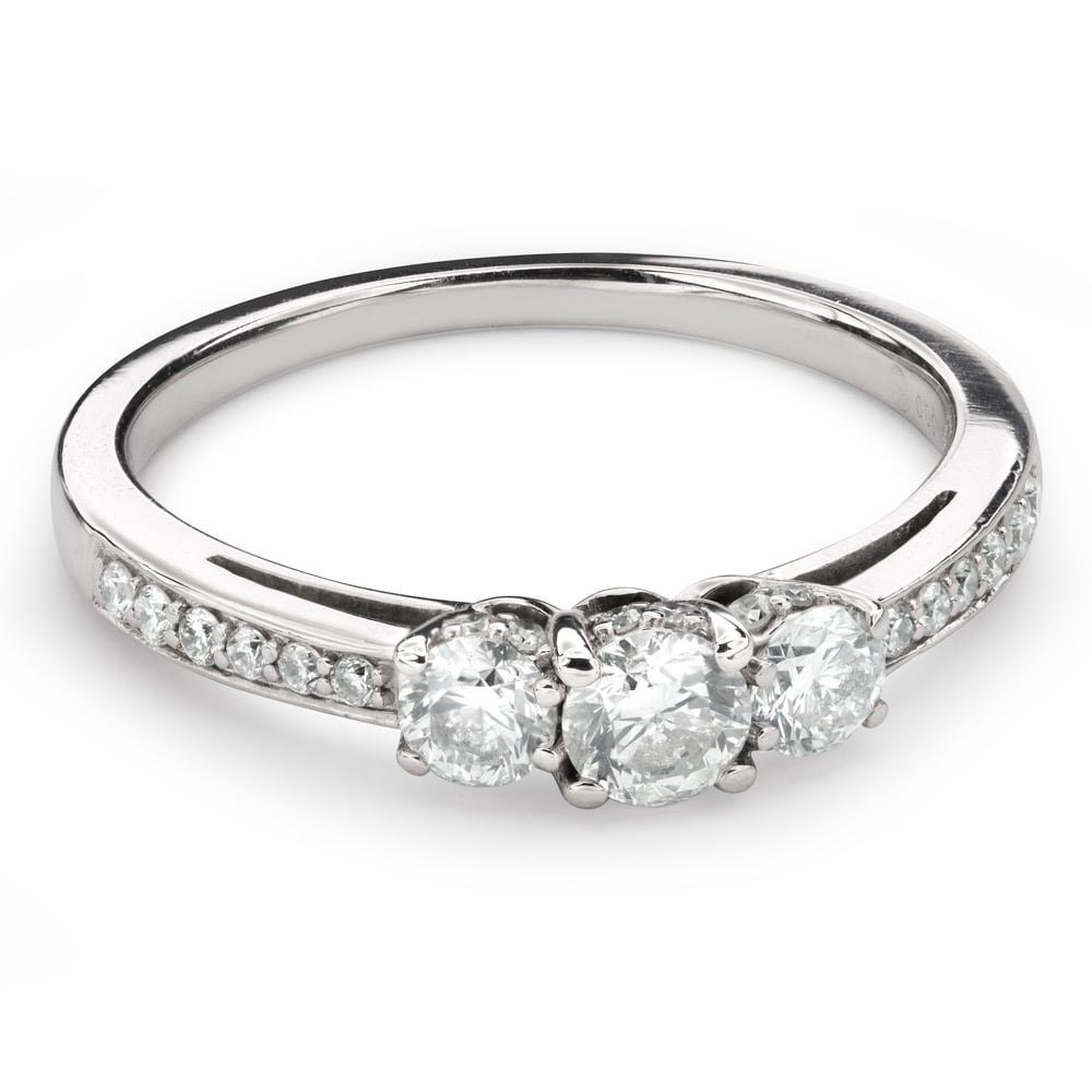"""Engagment ring with brilliants """"Trilogy 38"""""""