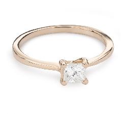 "Engagement ring with diamond ""Princess 86"""