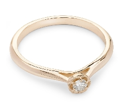 """Engagement ring with brilliant """"Diamond flower 45"""""""