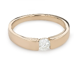 """Engagement ring with brilliant """"Between the rocks 32"""""""