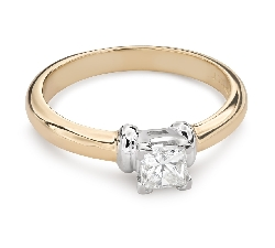"Engagement ring with diamond ""Princess 87"""